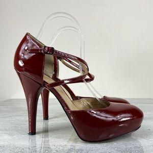 Via Spiga Red Patent Leather Heels